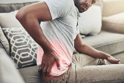 Man with low back pain in Leesburg